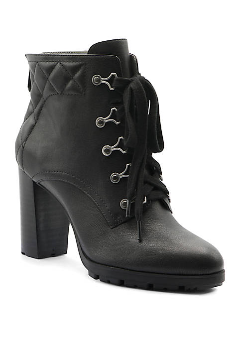 Adrienne Vittadini Trailer Lace Up Booties