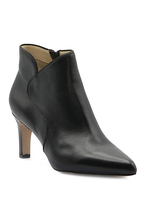 Adrienne Vittadini Samele Leather Dress Booties