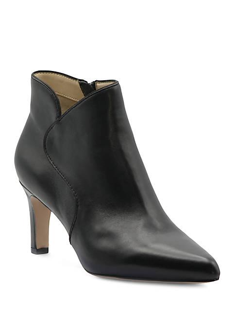 Adrienne Vittadini Samele Leather Dress Booties