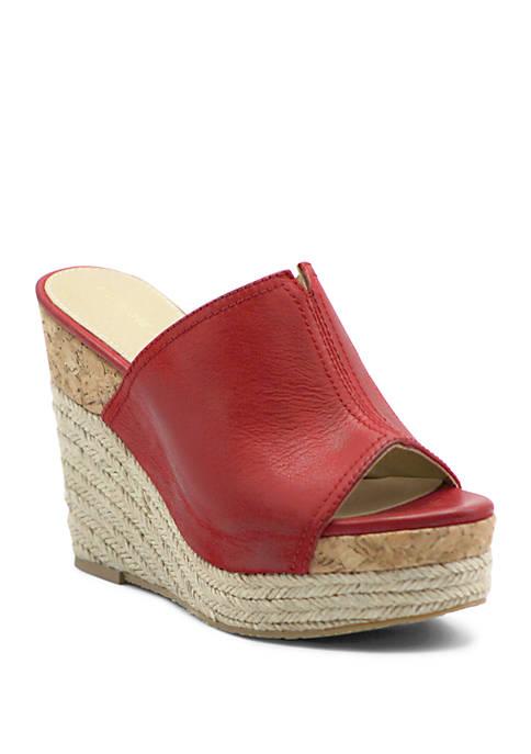 Adrienne Vittadini Cherli Wedge Slide Sandals