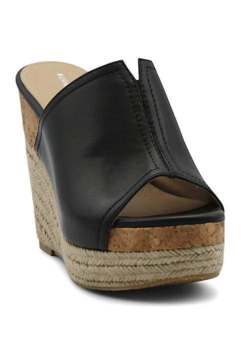Adrienne Vittadini Cherli Wedge Slide Sandals
