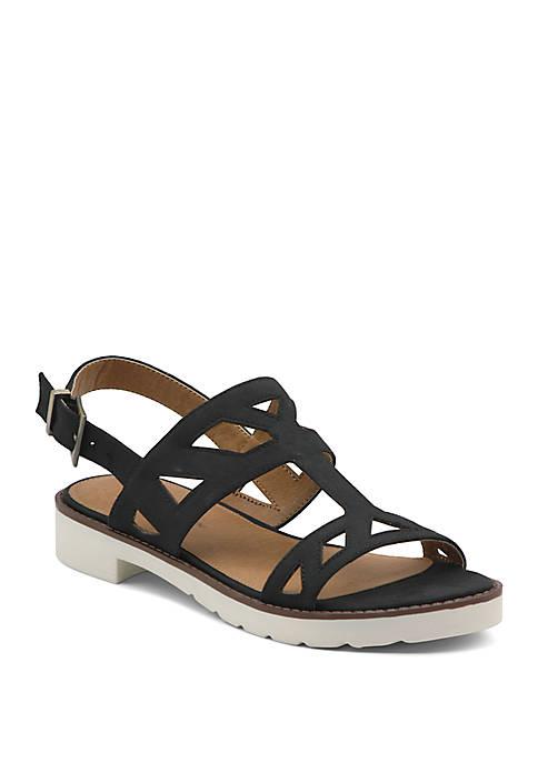 Adrienne Vittadini Seka T Strap Flat Sandals