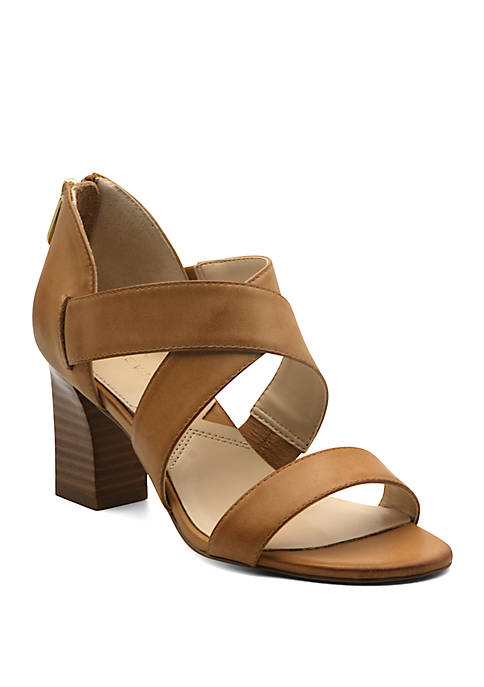 Adrienne Vittadini Rowsey Block Heel Sandals