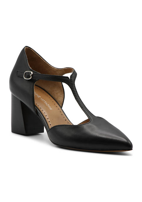 Adrienne Vittadini Naemi T Strap Heels