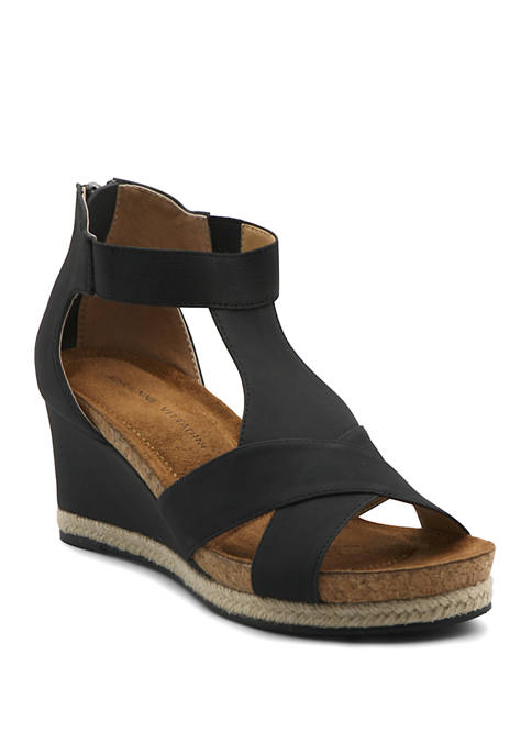 Adrienne Vittadini Teresa Wedge Sandals