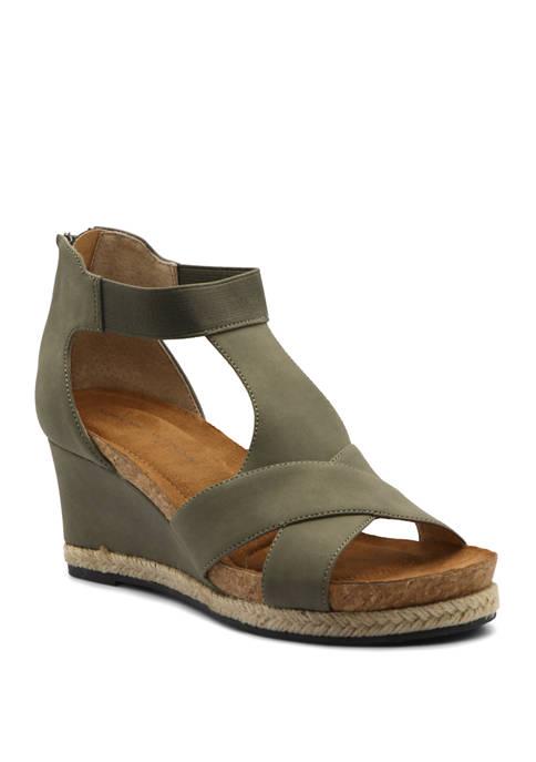 Adrienne Vittadini Teresa Wedge Sandals