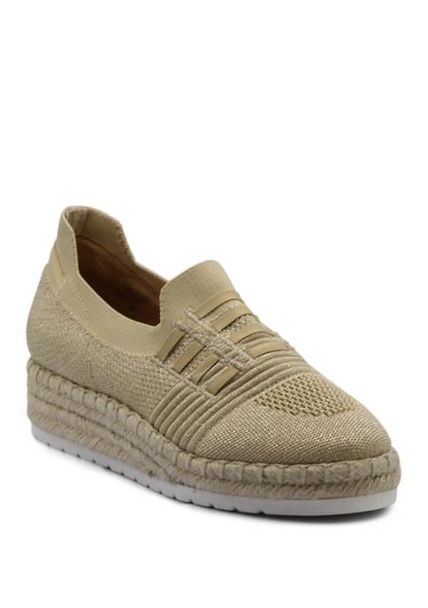 Adrienne Vittadini Nasli Stretch Knit Slip On Shoes
