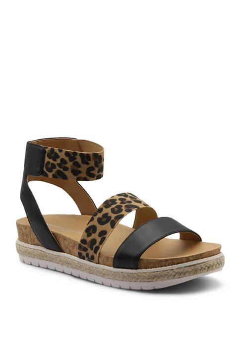 Adrienne Vittadini Perr Stretch Sandals