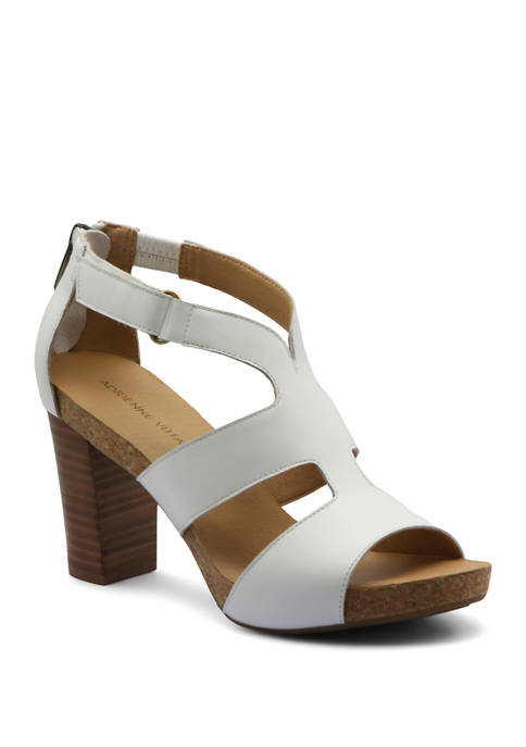 Adrienne Vittadini Saha Leather City Sandals