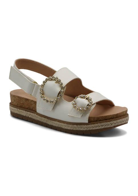 Adrienne Vittadini Jeweled Footbed Sandals