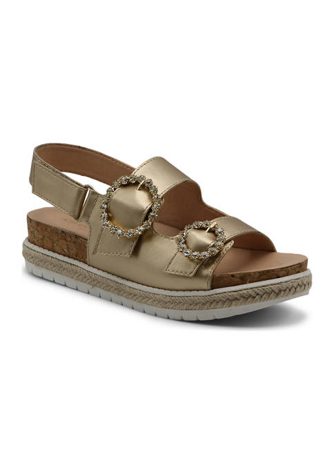 Jeweled Footbed Sandals