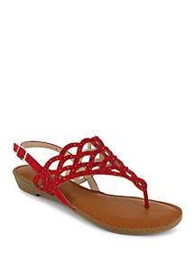 051a0fa7d Korks Yanidel Sandals · ZiGi Jewel Cut Thong Footbed Sandal