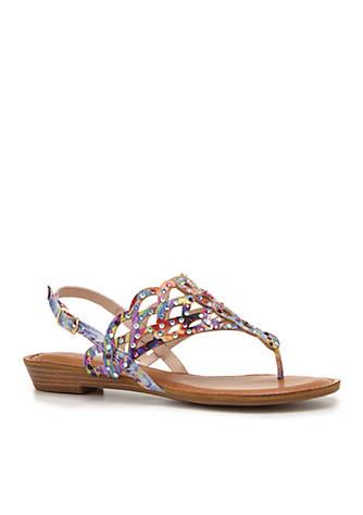 ZiGi Jewel Cut Thong Footbed Sandal h8vpXrm