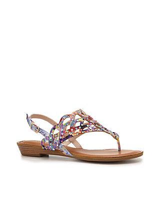 8bee7afab60f ZiGi Jewel Cut Thong Footbed Sandal