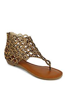 ad0b5d614113 Jellypop Lizzy Slide Sandals · ZiGi Jewel Cut Back Zip Thong Sandal