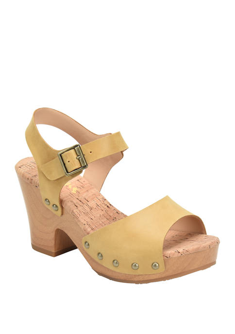 Korks Brionna Wood Bottom Sandals