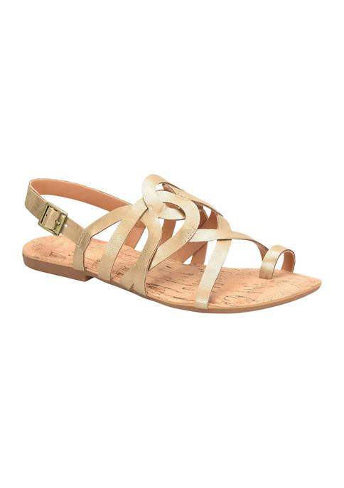 Sangria Flat Sandals