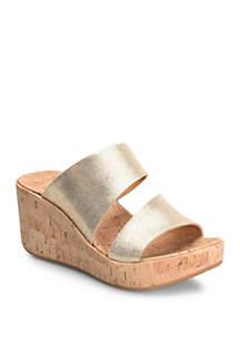 Korks Deltona Slide Wedge Sandals