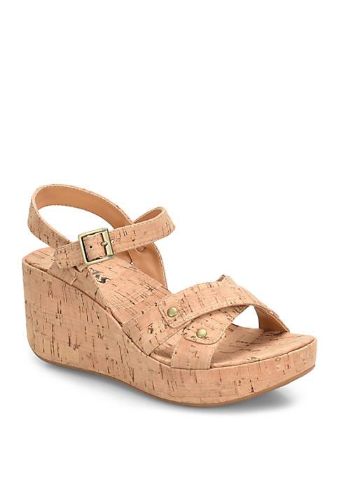 Korks Curacao Cork Wedge Sandals