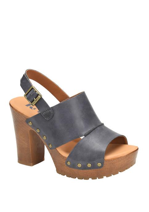 Kristian Wood Bottom Sling Sandals