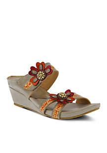Bacall Wedge Sandal