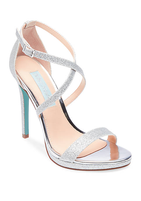 Betsey Johnson Andi Glitter High Heel Sandals