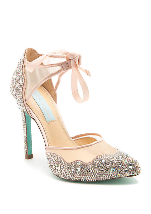 Blue by Betsey Johnson Iris Rhinestone Pump