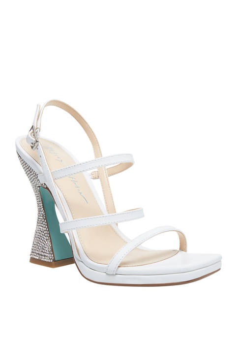 Betsey Johnson Pacey Paired Heel Sandals
