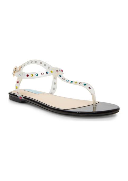 Betsey Johnson Rosa Lucite Flat Sandals