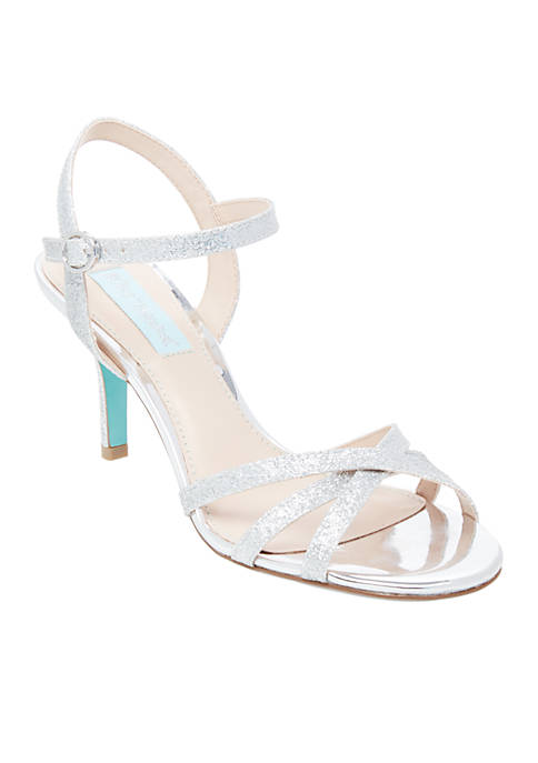 Betsey Johnson Tyler Ankle Strap Sparkle Heel