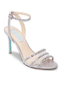 Veda High Heel Ankle Strap Sandal