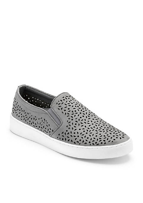 Midi Perforated Slip On Sneakers