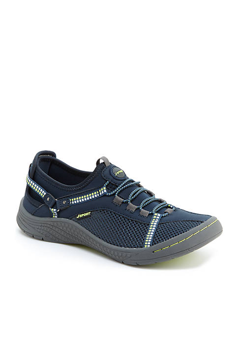 Jambu Tahoe Encore Navy and Kiwi Shoes