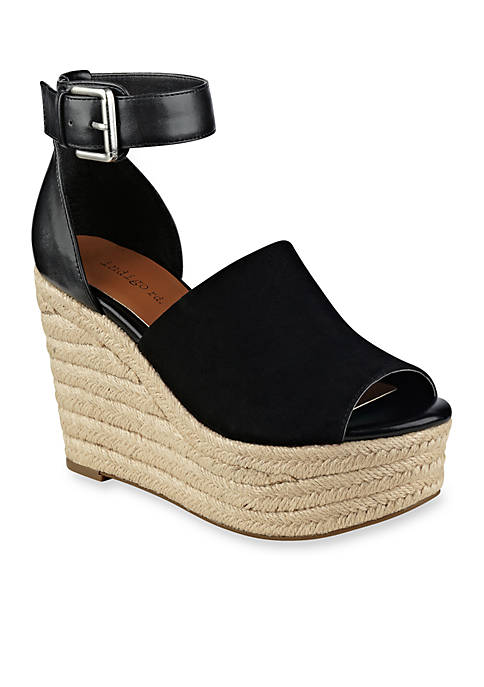 Airy Plat Espadrille Ankle Wedge