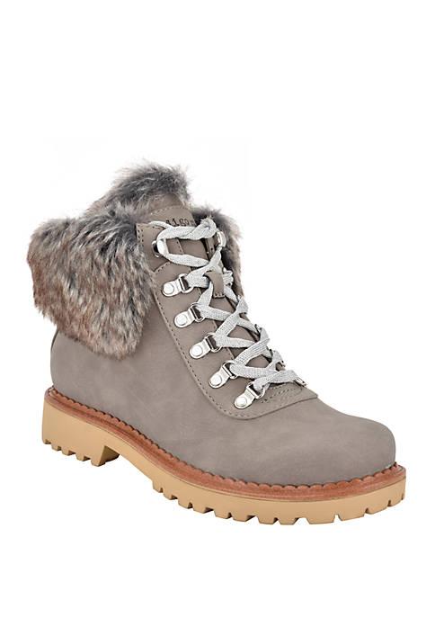 indigo rd. Cecilia Fur Top Hiker Boots