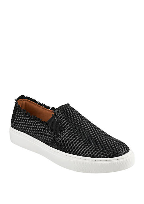Kicky Frayed Woven Sneakers