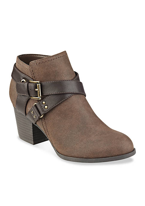 indigo rd. Sablena Heeled Cross Buckle Bootie