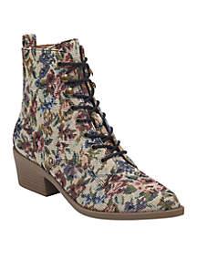 Yarine Fabric Lace-Up Boot