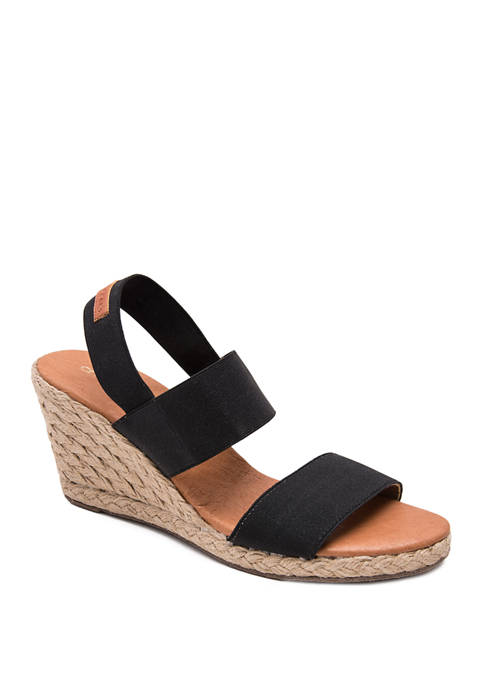 André Assous Allison Two Band Wedge Sandals