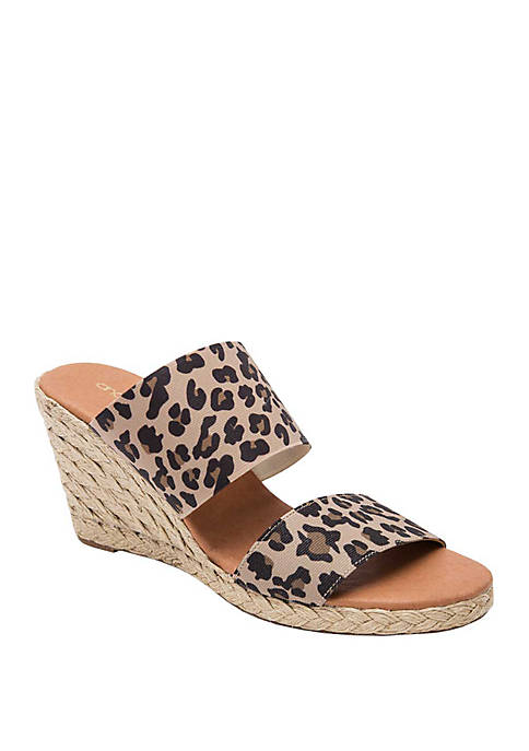 André Assous Amalia Two Band Espadrille Wedge Sandals