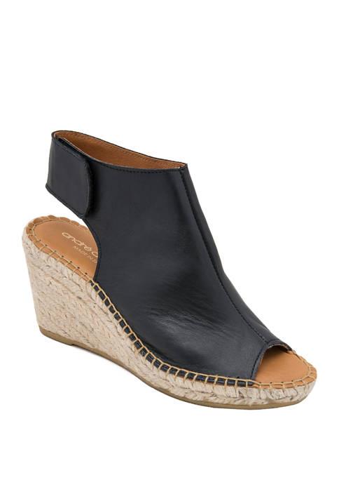 André Assous Flora Open Toe Espadrille Sandals