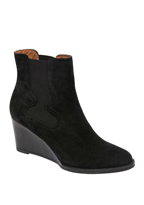 André Assous Palmer Wedge Chelsea Western Booties