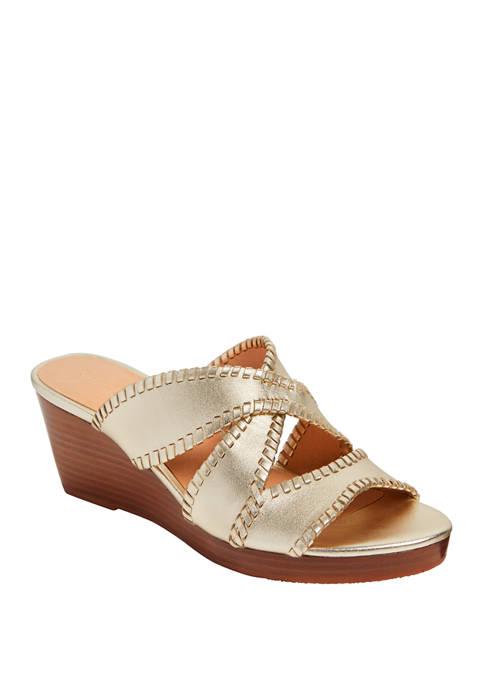 Jackie Mid Wedge Sandals