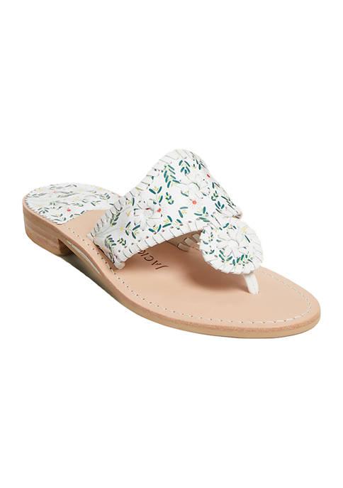 Daisy Print Sandals