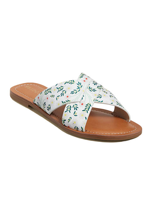 Jack Rogers Slotted Daisy Printed Sloan Sandals