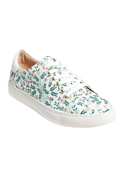 Jack Rogers Womens Rory Daisy Print Sneakers