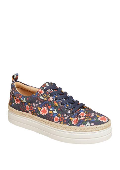 Jack Rogers Mia Floral Platform Sneakers