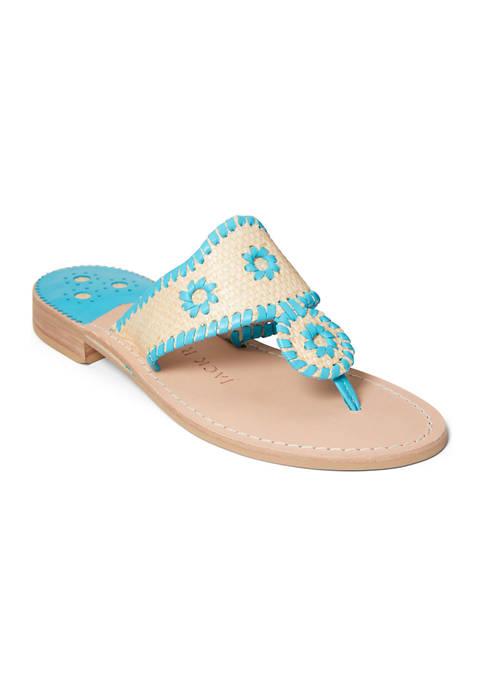 Jack Rogers Jacks Rattan Flat Sandals