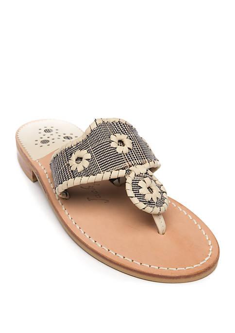 Plaid Flat Sandals
