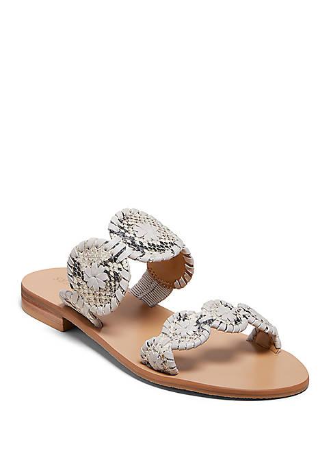 Lauren Snake Print Sandals